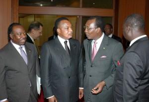 Ali Bongo Ondimba-Denis Sassou Ngesso-Idriss Deby Itno-FrançoisBozize-JamesBötkös