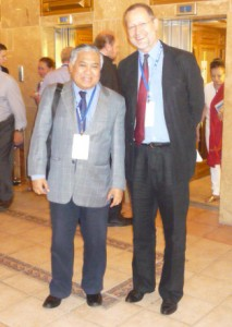 Prof.Dr.Din Syamsuddin and James J. Bötkös